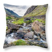 Llanberis Pass Throw Pillow by Adrian Evans