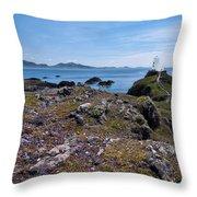 Llanddwyn Island Throw Pillow by Meirion Matthias