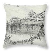 Llandudno Pier 1957 Throw Pillow