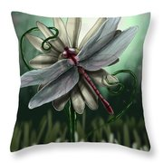 Ll's Dragonfly Throw Pillow