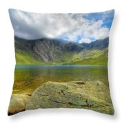 Llyn Idwal Throw Pillow