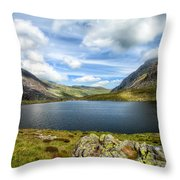 Llyn Idwal Lake Throw Pillow