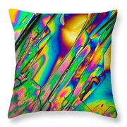Lm Of Tartaric Acid Crystal Throw Pillow