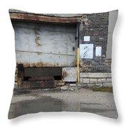 Loading Dock Door 2 Throw Pillow
