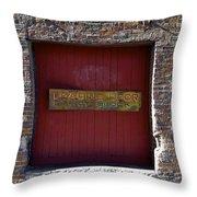 Loading Dock Door Throw Pillow