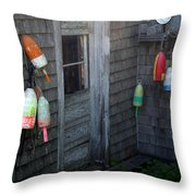 Lobsterman's House Throw Pillow
