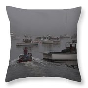 Lobstermen To Work Throw Pillow