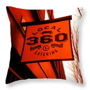 Local 360 In Orange Throw Pillow
