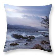 Loch Ness Shoreline At Dusk Throw Pillow