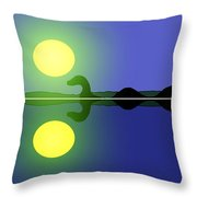 Loch Ness Sunrise Throw Pillow