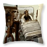 Lock And Chain Throw Pillow