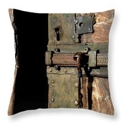 Lock Of Church. France Throw Pillow