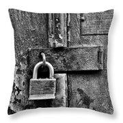 Locked Up Throw Pillow