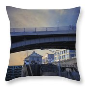Lockport Stroll Throw Pillow