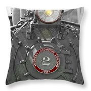 Locomotive 2 Throw Pillow
