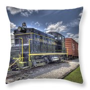 Locomotive II Throw Pillow