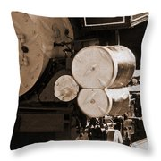 Locomotive No5 Stamped Throw Pillow