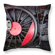 Locomotive Wheel Throw Pillow by Carlos Caetano