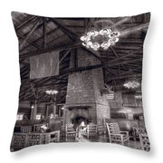 Lodge Starved Rock State Park Illinois Bw Throw Pillow