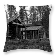 Log Cabins-faded Dreams Throw Pillow