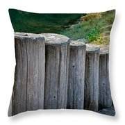 Log Handrail Throw Pillow