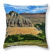 Logan Pass Panorama Throw Pillow
