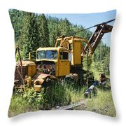 Logging Truck 2 - Burke Idaho Ghost Town Throw Pillow