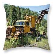 Logging Truck 2 - Burke Idaho Ghost Town Throw Pillow