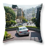 Lombard Street San Francisco Throw Pillow