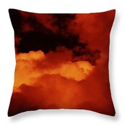 Lomo Moon And Clouds Throw Pillow