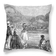 London: Archery, 1859 Throw Pillow