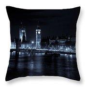 London At  Night View Throw Pillow