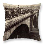 London Bridge - England - C 1896 Throw Pillow by International  Images