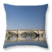 London Bridge And Reflection Throw Pillow