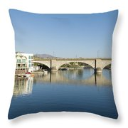 London Bridge And Reflection II Throw Pillow