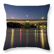 London Bridge At Dusk Throw Pillow