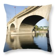 London Bridge II Throw Pillow