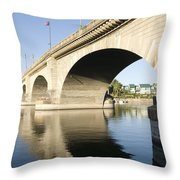 London Bridge II Throw Pillow