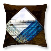 London Building Abstract Throw Pillow