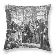 London: Christmas, 1866 Throw Pillow