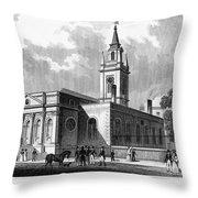 London: Church, C1830 Throw Pillow