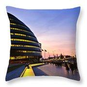 London City Hall At Night Throw Pillow