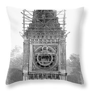 London: Clock Tower, 1856 Throw Pillow