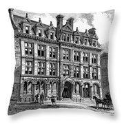 London: Daily News, 1885 Throw Pillow