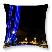 London Eye And London View Throw Pillow