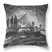 London: Fleet Street Sewer Throw Pillow