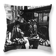 London: Flower Girl, C1900 Throw Pillow