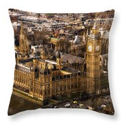 London From The London Eye Throw Pillow