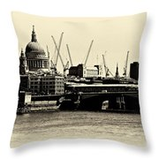London From The Southbank Throw Pillow