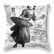 London: Match-girl Throw Pillow